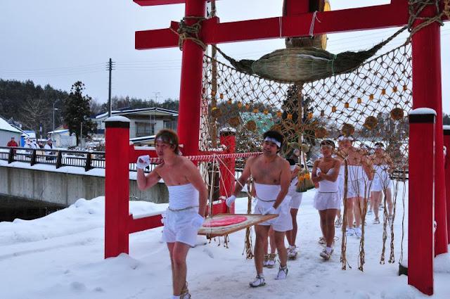 Naked Festival at Maedanome, Goshogawara City, Aomori Pref.