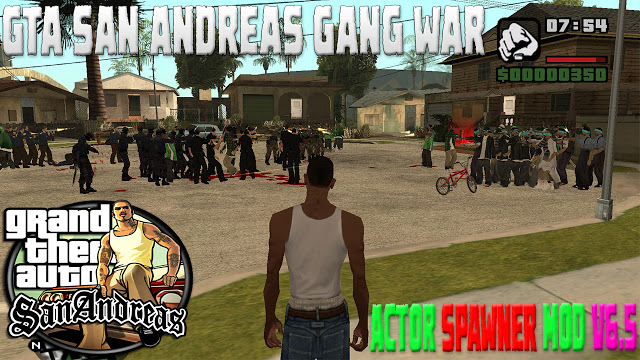 GTA San Andreas Actor Spawner With Menus V6.5 Mod