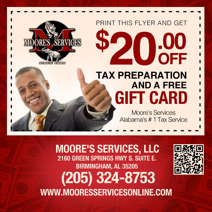 MOORE'S SERVICES: Foreign Income, ALABAMA'S # 1TAX SERVICE
