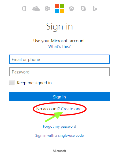 new hotmail account create
