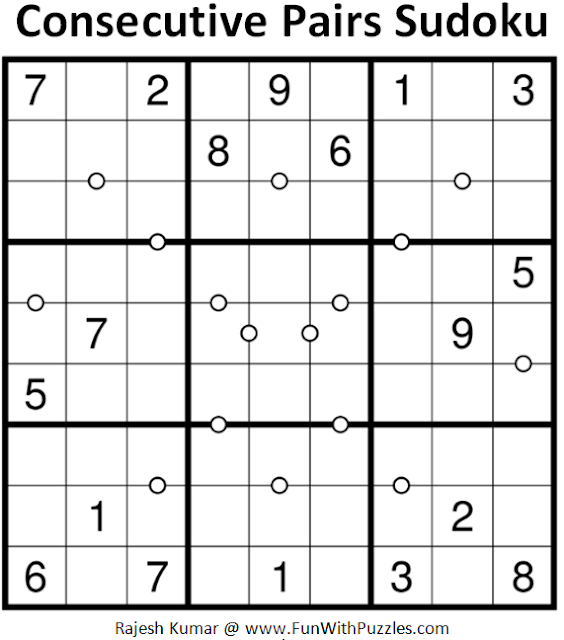 Consecutive Pairs Sudoku (Daily Sudoku League #180)