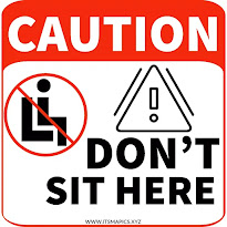 do not sit here sign free printable