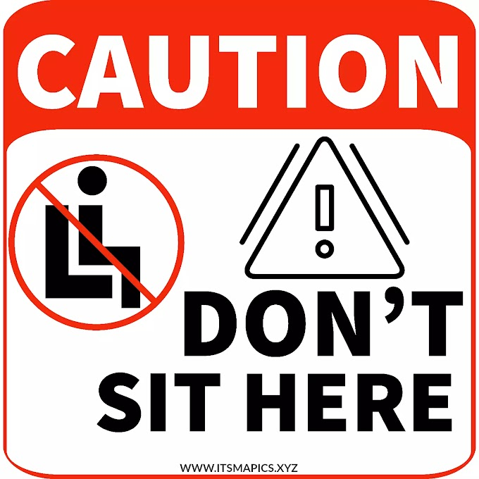 Do not sit here sign free printable Image Signage
