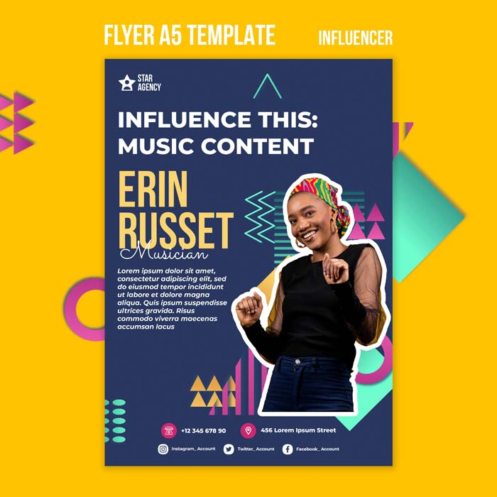 Influencer Print Template With Photo