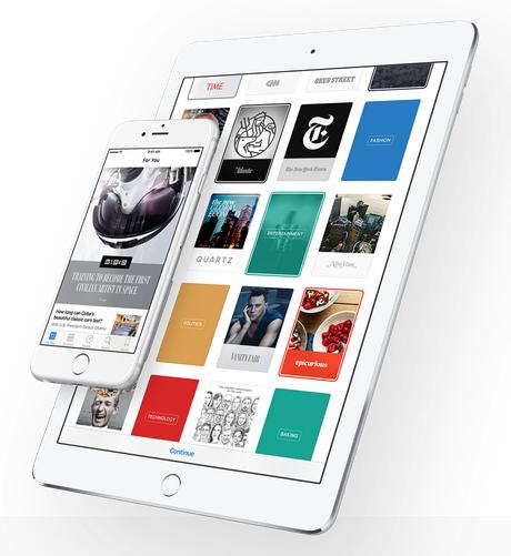 Gambar tampilan News App Terbaru pada iOS 9 terbaru