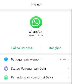 b cara menonaktifkan whatsapp