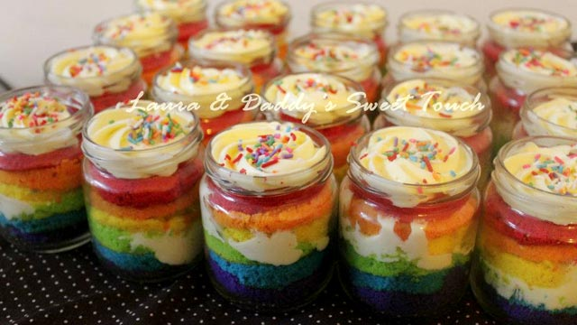 Resep Cake In Jar Rainbow