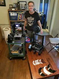 Montgomery Catholic Teacher 3D Prints for Montgomery Fighting Covid-19 1