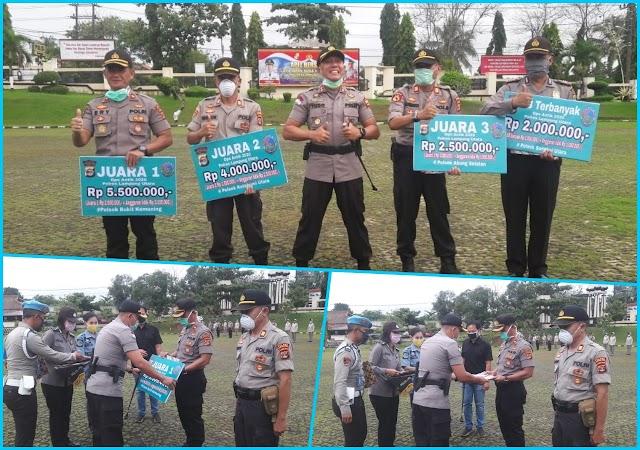 Terbaik Dalam Operasi, Empat Kapolsek Terima Penghargaan dari Kapolres Lampung Utara