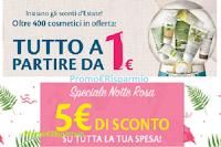 Logo Bottega Verde: buono sconto da 5€, spese gratis e 400 prodotti a partire da 1€