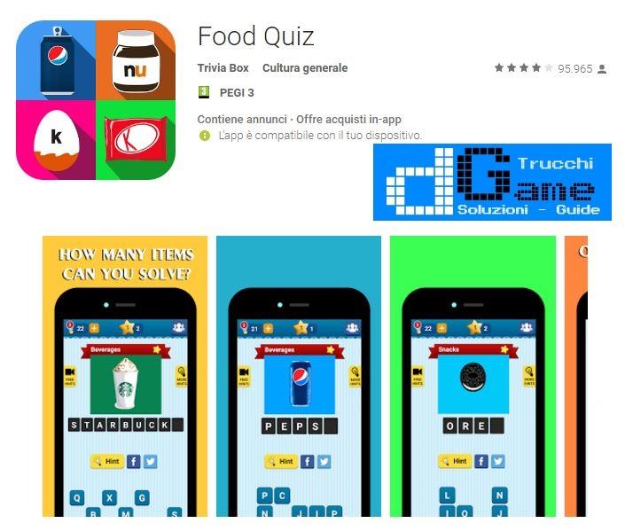 Soluzioni Food Quiz