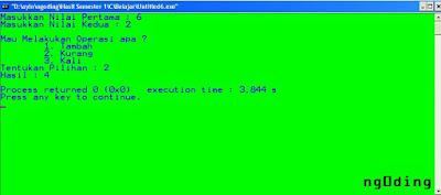 Pengkondisian Switch – Case Dalam Bahasa Pemrograman C