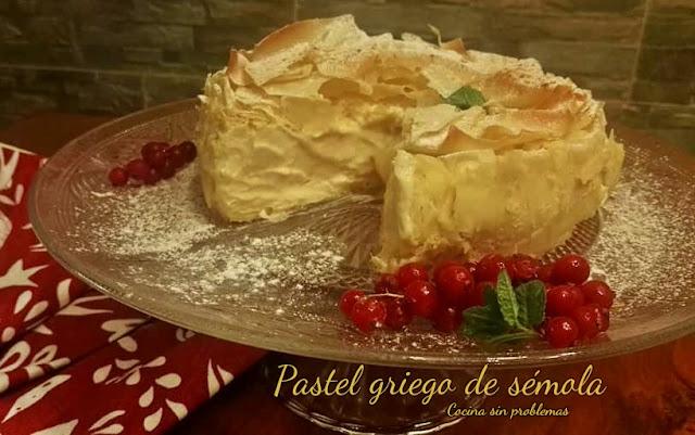 Pastel De Semola Y Leche Griego. Galaktoboureko