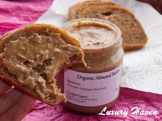 budofjoy organic almond butter