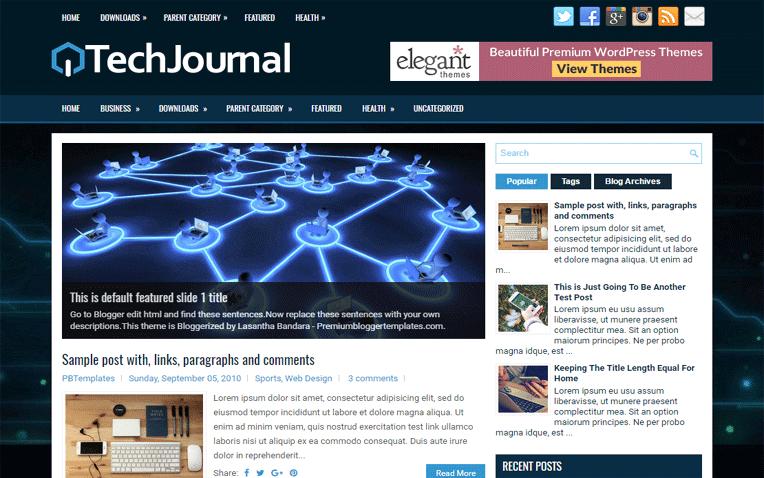 TechJournal Free Blogger Template