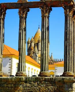 Roman Ruins Temple Romanas Catedral Evora Portugal