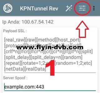 Cara mengisi akun SSH di KPN Tunnel Rev