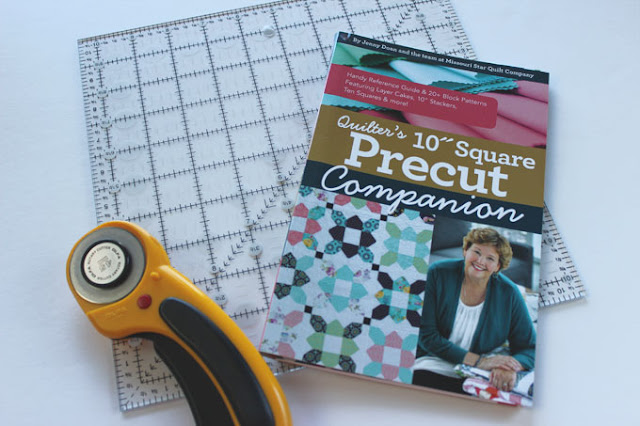 quilt book with ruler and rotary cutter
