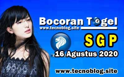 Bocoran Togel SGP 16 Agustus 2020