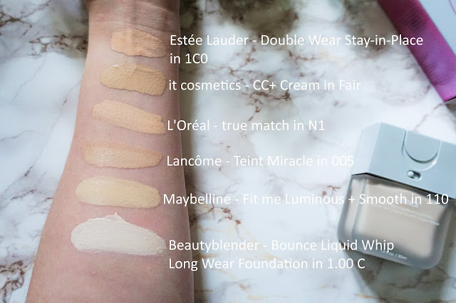Beautyblender - Bounce Liquid Whip Long Wear Foundation Swatch