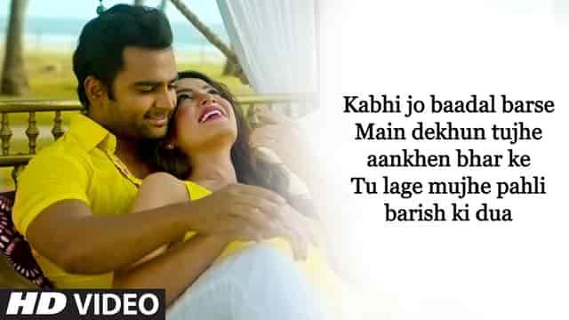 Kabhi Jo Badal Barse Lyrics English