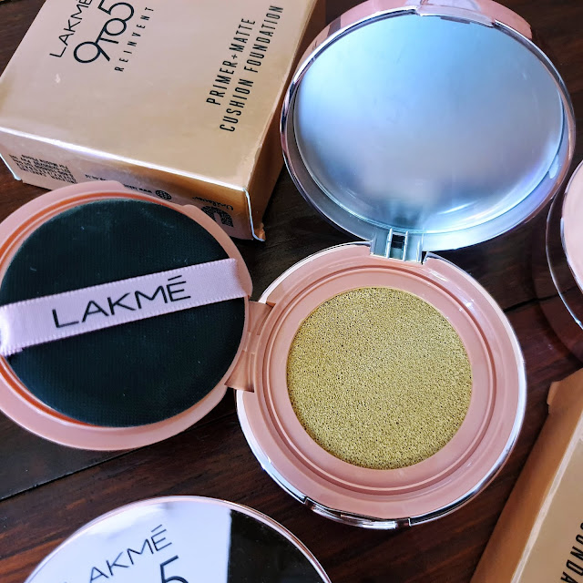 LAKME 9to5 REINVENT PRIMER + MATTE CUSHION FOUNDATION (Review)