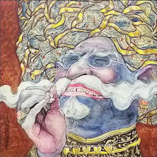 Painting by Chandranath Acharya