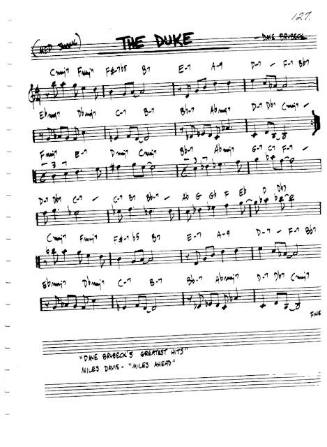 Partitura Flauta Dave Brubeck