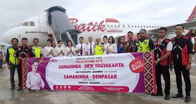 Peresmian penerbangan perdana Rute Baru Lion Air Goup di Samarinda