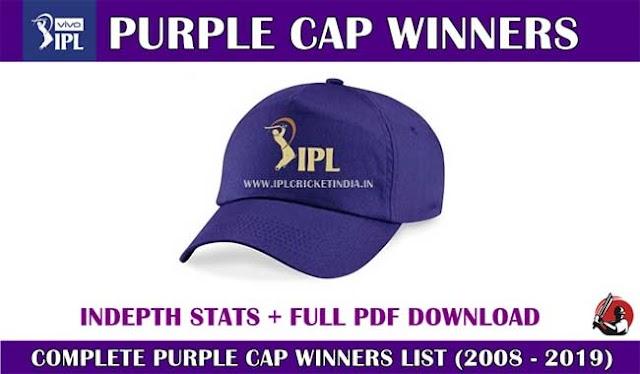 IPL purple cap: complete winners list & holder list (2008-2019)