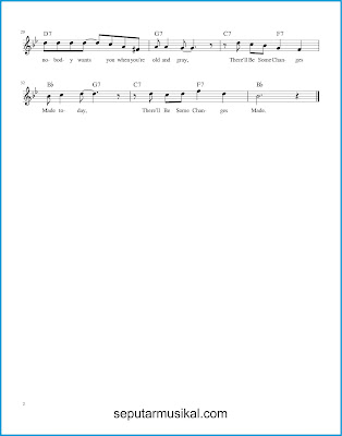 There'll Be Some Changes Made 2 chords jazz standar