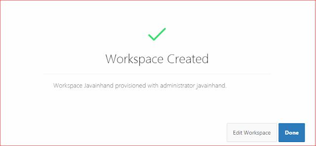Oracle APEX Tutorial - How to Create Workspace in Oracle APEX