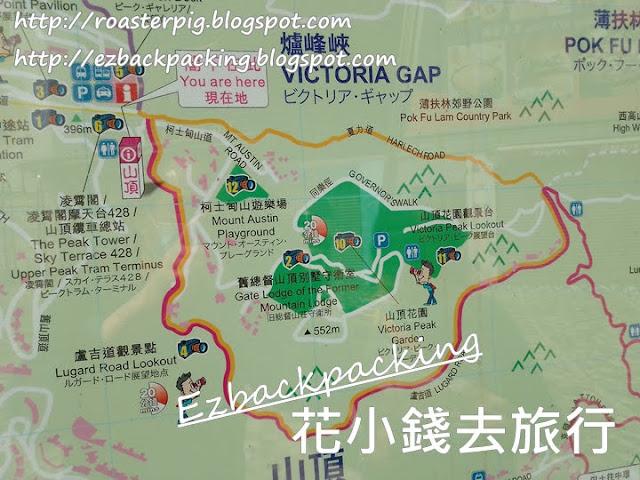 山頂行山路線地圖