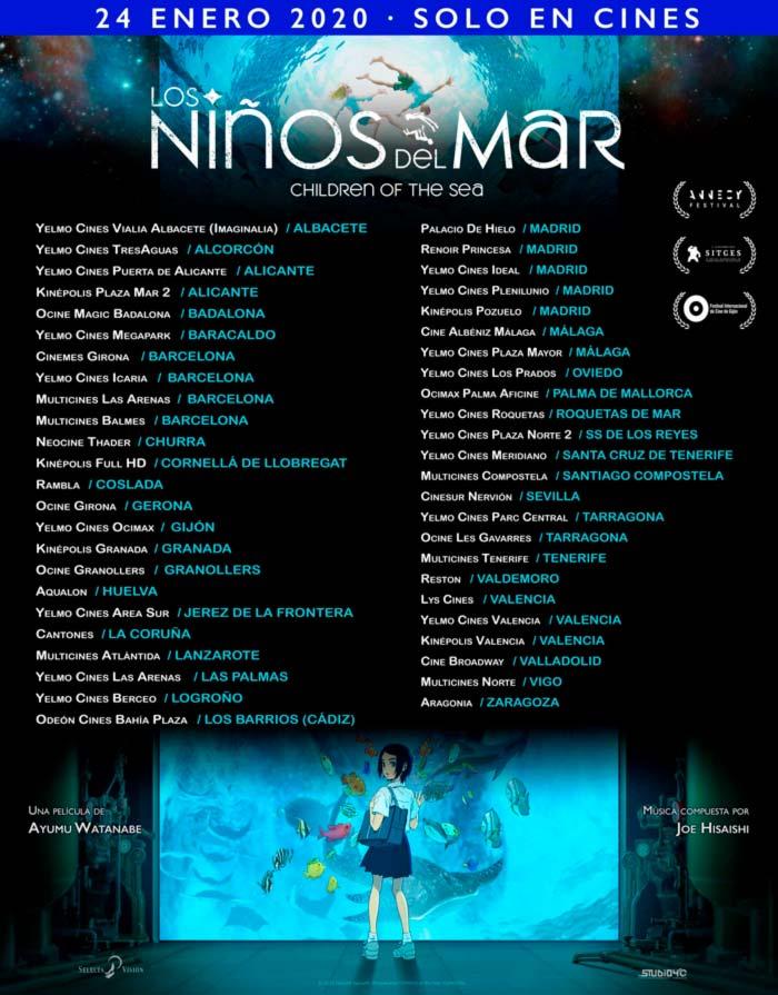 Los niños del mar (Selecta Visión) anime - estreno en cines