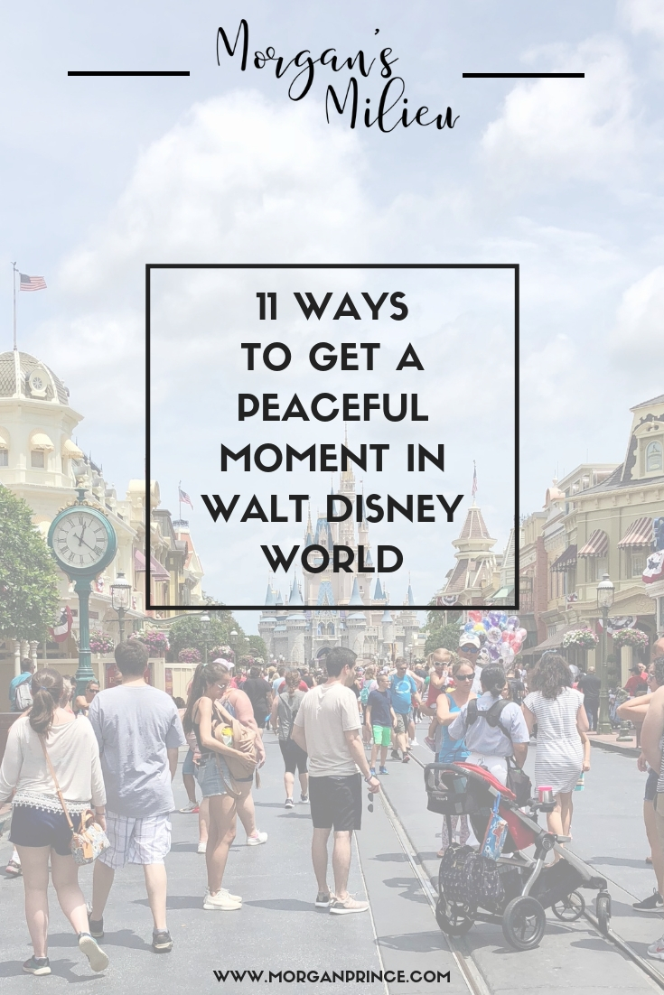 There are ways to get a peaceful moment in Walt Disney World - you just have to know how - and I do!