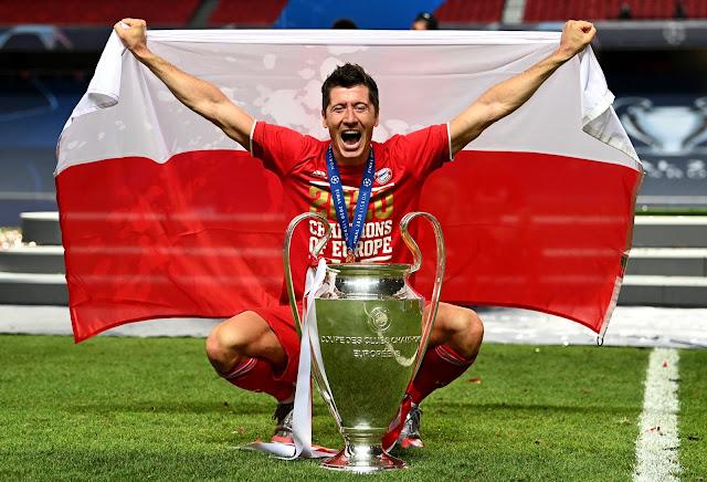 Robert Lewandowski Top Scorer Liga Champions 2020