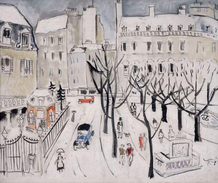 Christopher Wood, painting, malerei, bild, poetische Art, winter, schnee, sich treiben lassen, vorausplanen, menschen, veränderung, überzeugungen, glaube, ziele, wünsche