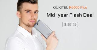Oukitel تعلن عن تخفيض على هاتف K6000 Plus