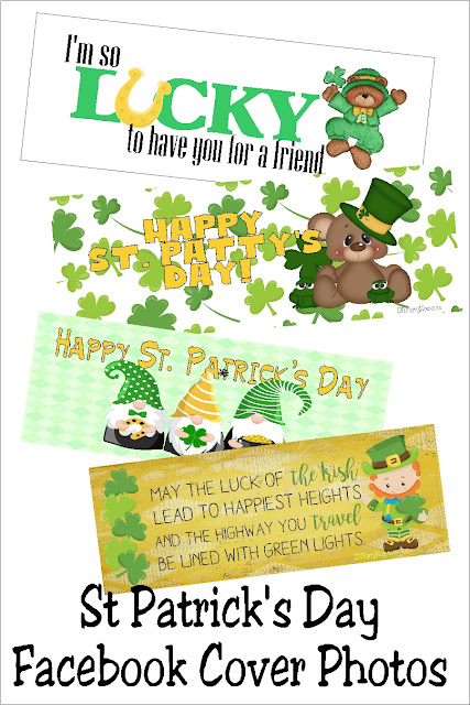 Don't just decorate your home, decorate your Facebook page too with these fun St Patrick's day Facebook cover photos.  They are a fun way to wish your friends a Happy St Patrick's day and lots of luck this month. #stpatricksday #facebookcoverphoto #diypartymomblog
