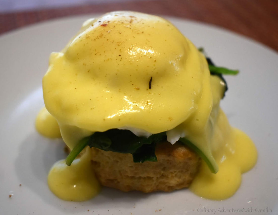 Christmas with a View inspired Eggs Florentine from Culinary Adventures with Camilla