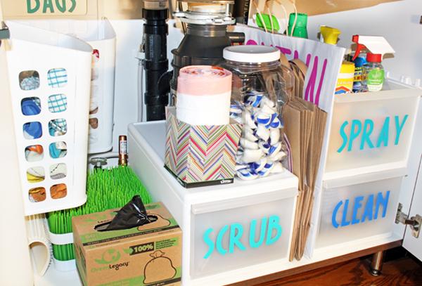 The Best Ways To Organize Under The Kitchen Sink Blue I