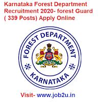Karnataka Forest Department Recruitment 2020, forest Guard