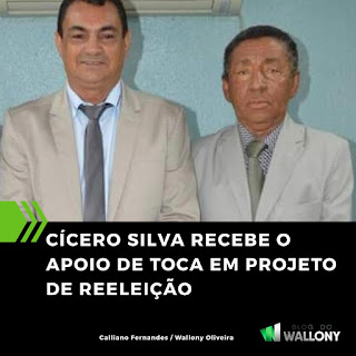 CÍCERO SILVA RECEBE APOIO DE TOCA EM PROJETO DE REELEIÇÃO