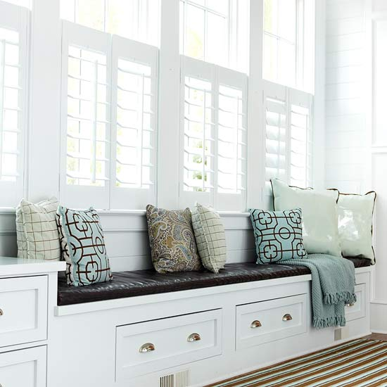 Sun Room Storage Ideas: David Dangerous: Bay Window Seat And Storage Ideas