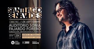 Concierto de Santiago Benávides en Bogotá