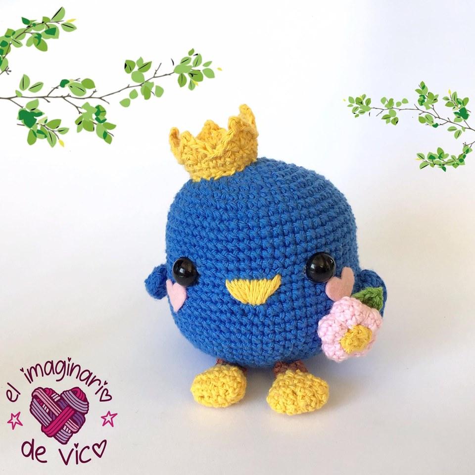 Crochet Bird Pattern | Lime Green Lady | 960x960