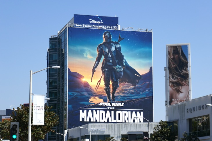 Giant Mandalorian season 2 billboard