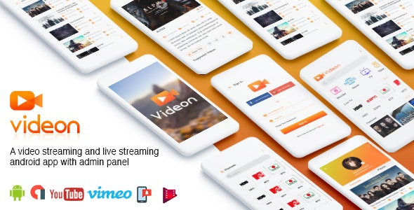 Download Videon v2.1.3 - A video streaming android app with admin panel