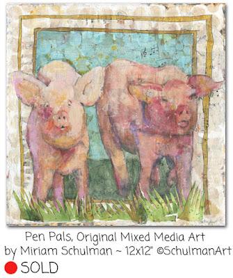 pig painting by miriam schulman | http://www.schulmanart.com