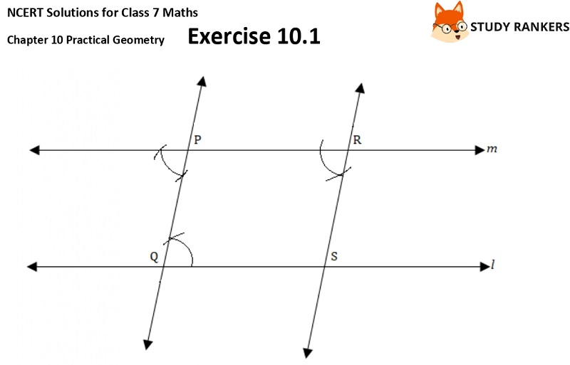 NCERT Solutions for Class 7 Maths Ch 10 Practical Geometry Exercise 10.1 3